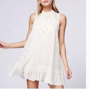 Free People Tea Angel Lace Short Casual Dress